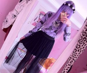 purple, pastel goth, and hair image