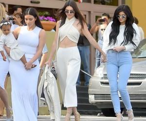 kim kardashian, north west, and kendall jenner image