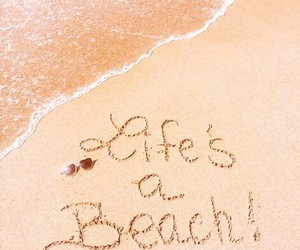 beach, nature, and quotes image