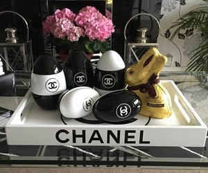 chanel, easter, and eggs image