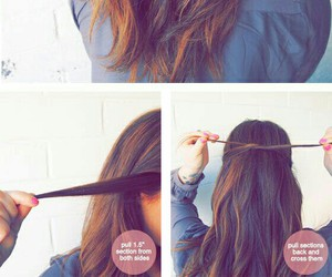 hair, hairstyle, and bow image