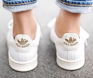 adidas, gold, and stan smith image