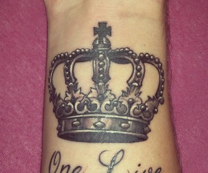 crown, tattoo, and wrist image