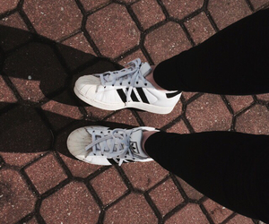 adidas, white, and superstar image