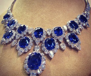 diamond, necklace, and blue image