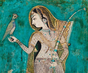 art, india, and painting image
