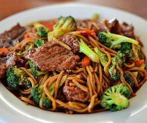 food, delicious, and noodles image
