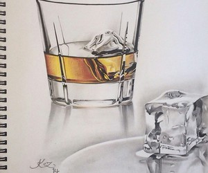 art, drawing, and ice image