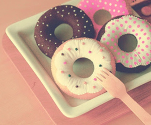 donuts, sweet, and pink image