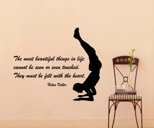 wall decals, yoga decal, and gym decor image