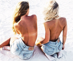 beach, place, and besties image