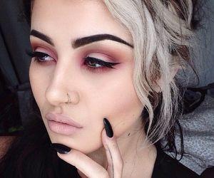 makeup, fashion, and black image