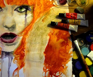 art, florence welch, and paint image