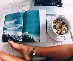 summer, food, and book image