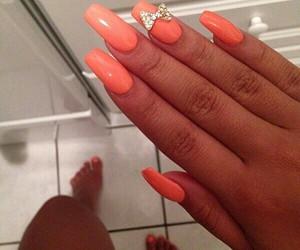 beauty, bow, and nails image