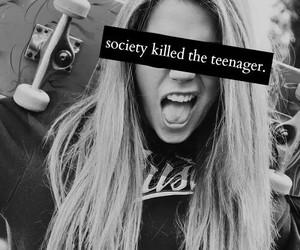 teenager, society, and killed image
