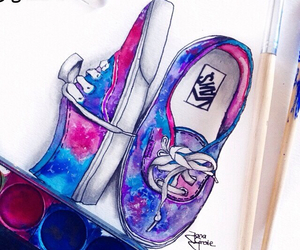 vans, drawing, and shoes image