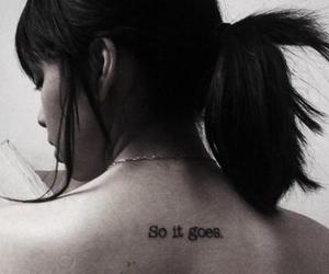 girl, so it goes, and tattoo image