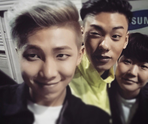 bts, iron, and rap monster image
