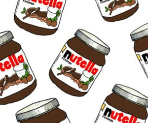 nutella, background, and chocolate image