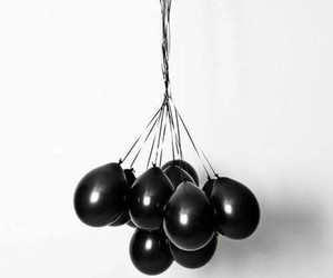 black, dark, and globos image