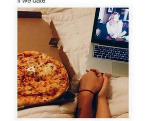 pizza, love, and couple image