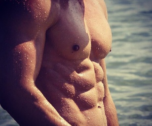 abs, muscels, and boy image