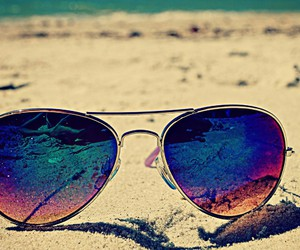 plage, soleil, and lunette image