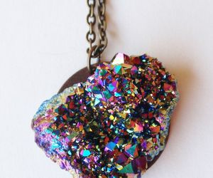necklace, crystal, and rainbow image