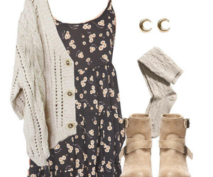 outfit, dress, and boots image