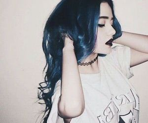 awesome, girl, and blue image