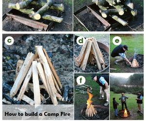 Build, campfire, and camping image
