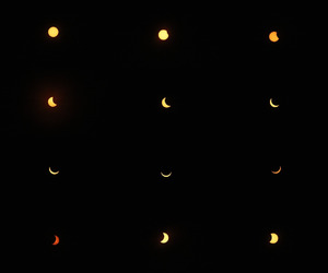 black and white, eclipse, and grunge image