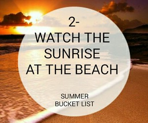 beach, list, and sunrise image