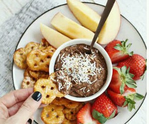 chocolate, hungry, and delicious image