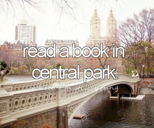 book, Central Park, and before i die image