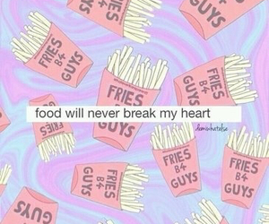 food, fries, and heart image