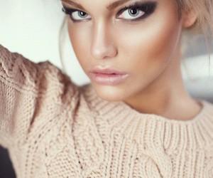 make up, makeup, and model image