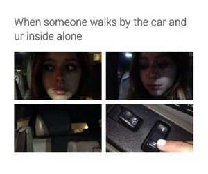 alone, car, and funny image
