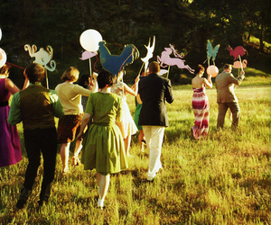 green, party, and wedding image
