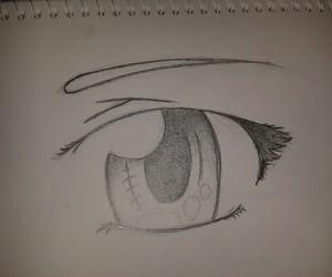 drawing, eye, and manga image