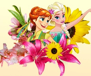 disney, flowers, and frozen fever image