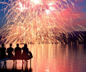 fireworks, friends, and light image