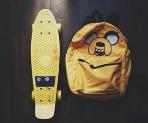 yellow, skate, and adventure time image