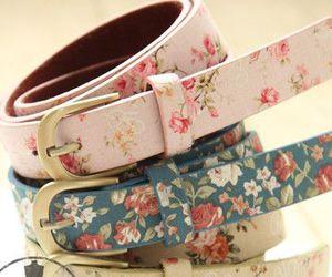 belt, fashion, and flowers image
