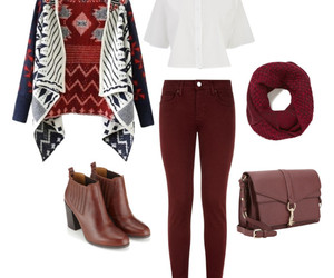 bag, boots, and cardigan image