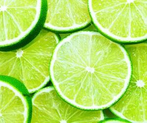 green, fruit, and lemon image