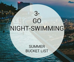 summer, swimming, and bucket list image