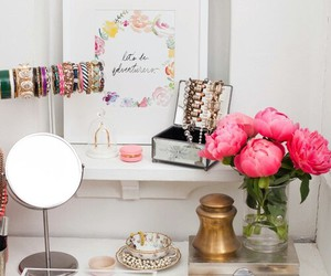 beauty, love, and dressing table image