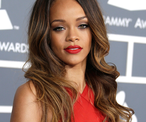 rihanna, red, and pretty image
